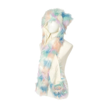 Jeweled Hooded Critter Scarf
