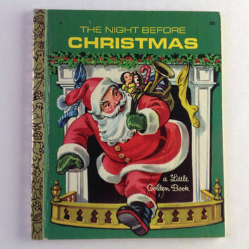 Vintage Little Golden Book The Night Before Christmas