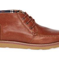 TOMS Brown Leather Men's Chukka Boots Brown