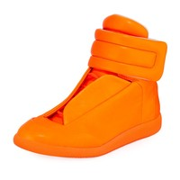 Neon Orange Future Hi-Top by Maison Margiela