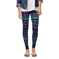 Empyre Girls Ombre Tribal Print Black Leggings