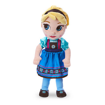 Disney Store Animators' Collection Frozen ElsaPlush Doll Small 13 Inch New