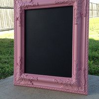 BAROQUE FRAMED CHALKBOARD Light Pink Chalk Board Vintage Frame Wedding Display Candy Bar Sign Party Decor Photo Prop or Nursery Decor
