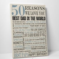 50th Birthday Present, Reasons we love you, 30th, 40th, 60th, 70th, 80th, 90th, Custom Birthday Gift, Anniversary gift, Mother Birth