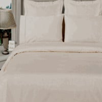 White 100% Viscose from Bamboo 4pc Comforter Cover Set