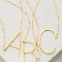 Monogram Pendant Necklace by Anthropologie in Assorted Size: