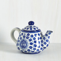 Vintage Inspired Delft Portrait Teapot by ModCloth