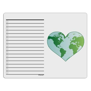 World Globe Heart To Do Shopping List Dry Erase Board