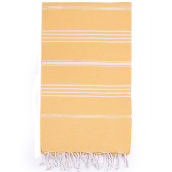 Turkish-T - Beach Towel | Yellow