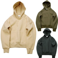 Olive YEEZY Fleece Streetwear Warm Winter Kanye West Hoodie Sweatshirts