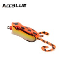 ALLBLUE Popper Frog Lure 60mm 15g Snakehead Lure Topwater Simulation Frog Fishing Lure Soft Bass Bait Peche