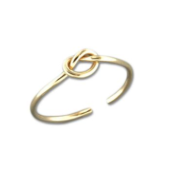 Knot Adjustable Toe Ring - Gold Filled