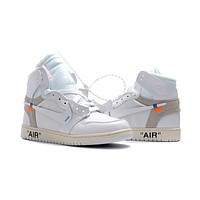 Off-White Air Jordan 1 White 36---47
