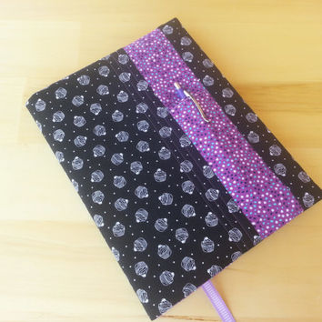 Composition Notebook Cover~ Frosted Cupcakes and Purple Dot