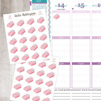 20 Bed / Sheets Stickers for YOUR planner! | Erin Condren Planner / Plum Paper Planner / Filofax / Kikki K / Planner