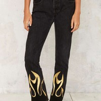 After Party by Nasty Gal Hang Fire Jeans
