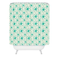 Allyson Johnson Mod Flowers Shower Curtain