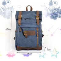 canvas backpack\ leather bag \women bag\men bag \backpack\Backpacker \mens bag\ Retro Backpack\ Leisure Backpack