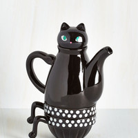 Cats Paw Me a Cup Tea Set in Cat by ModCloth