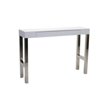 Moes Home Tura Rectangular Console Table w/ White Lacquer Top