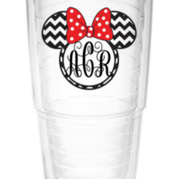 Monogram Tumbler ~ Perfect gift for Disney lover ~ personalized insulated tumbler cup with lid and straw 16oz