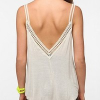 Daydreamer LA Deep V-Back Crochet Trim Tank Top