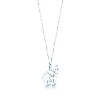 Tiffany & Co. - Elephant Tag Charm and Chain