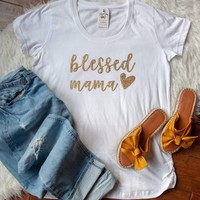 Blessed Mama Ladies Maternity Shirt