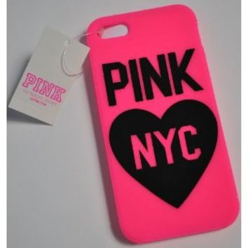 Victoria's Secret iphone Case 5 Soft Case Pink NYC
