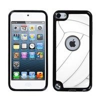 One Tough Shield ® Rigid/Flexible Hybrid Case (Black Bezel) for Apple iPod Touch 5 5th / 6 6th Generation - Volleyball