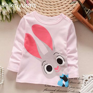 T-shirt Cotton Korean Version Tops For Boys O-neck Cotton Long Sleeve T-shirts Children Summer Tees Clothes Infant Boys T Shirts