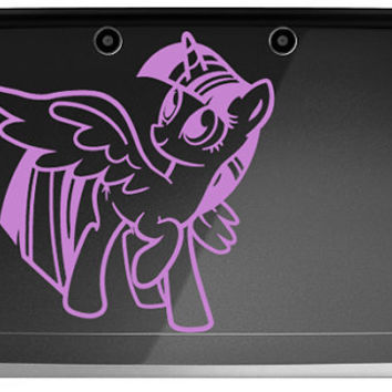 Princess Twilight Sparkle My Little Pony 3ds or 3ds XL decal