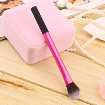 Professional Pro Powder Blush Brush Makeup Foundation Tool Cosmetic Stipple Blending Fiber