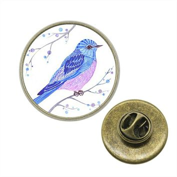 10pcs Brooch Pins 12 Patterns 2 Colors 5 Size Flowers And Birds Glass Cabochon Collar Pin Lapel Pins For Men XA-Z-G1092