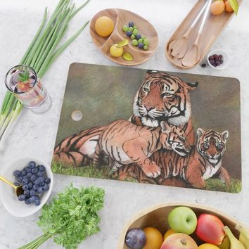 Family of tigers Cutting Board by savousepate