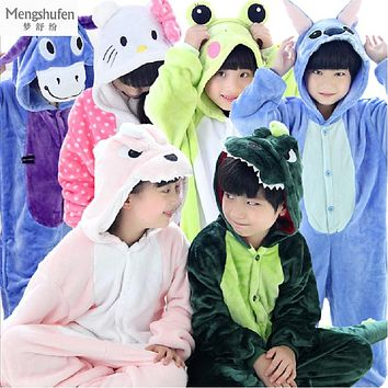 Flannel Pijamas Kids Cosplay Cartoon Animal Baby Boys Girls Pyjamas Home Clothes Panda Onesuit Pajamas Unicorn Kids Sleepwear