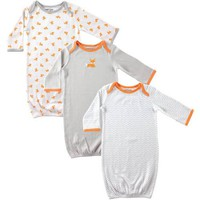 Luvable Friends Newborn Baby Boys Gowns 3-Pack, 0-6 months - Walmart.com