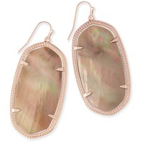 Kendra Scott: Danielle Statement Earrings In Brown Pearl