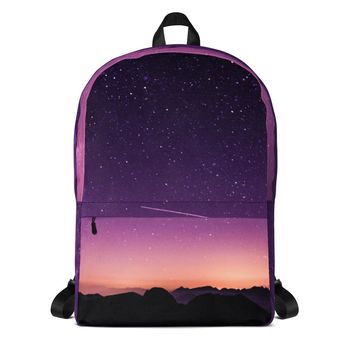 Purple Galaxy Backpack