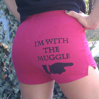 I'm with the Muggle - XSmall Pink