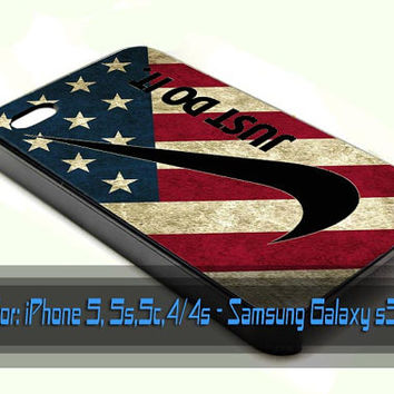 nike america flag design for iPhone 4/4s, iPhone 5/5s/5c, Samsung Galaxy S3/S4 Case
