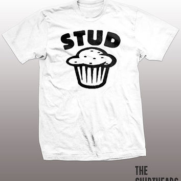 Stud Muffin T-shirt - funny shirt for boyfriend, husband, mens, guys, gift, geek tee shirt, food, foodie