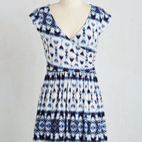 Boho Mid-length Cap Sleeves A-line Breezier Said than Done Dress