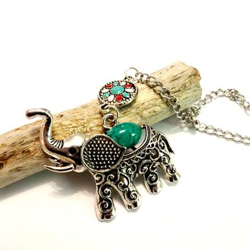 Tribal Elephant Rear View Mirror Car Charm