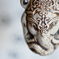 NEW - Ganesha Head Necklace - High fire Peruvian ceramic Bottle