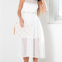 Country Club dress in white