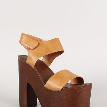 Speed Limit 98 Band Chunky Platform Heel