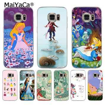 MaiYaCa Alice In Wonderland Retro Movie Poster  Coque Shell Phone Case  for Samsung S5 S6 S7 Edge S8 Plus S6 Edge Plus S9 S9Plus