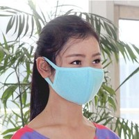 2017 Solid Cotton Mask Breathable Mouth-muffle Winter Cotton Funny Mouth Anti-Dust Face Mask Activated Carbon Mouth Masks HEQ286