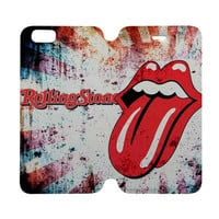 THE ROLLING STONES Case Wallet iPhone 4/4S 5/5S 5C 6 Plus Samsung Galaxy S4 S5 S6 Edge Note 3 4
